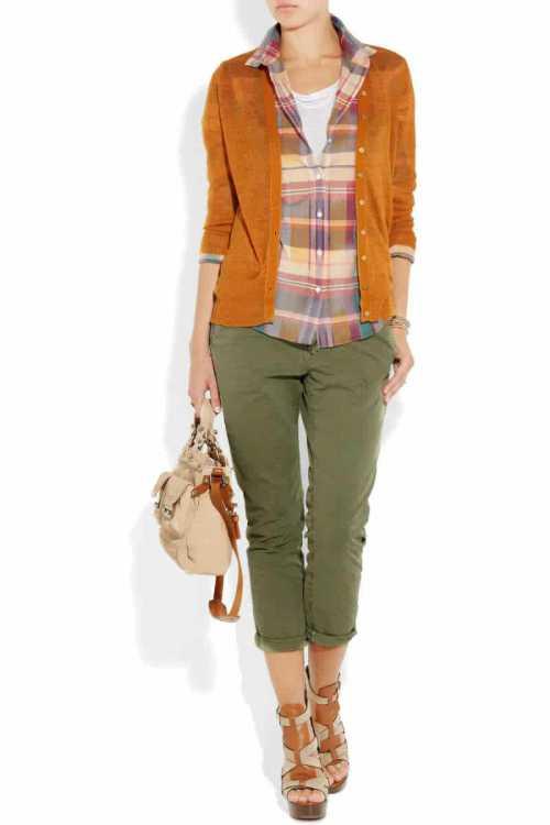 c чем носить брюки с цветочным приннтом в 2015 году