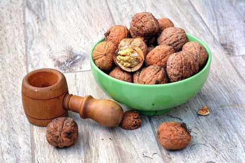 грецкие орехи не дают прибавки в весе даже при ежедневном употреблении